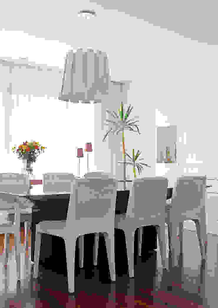 Casa Brooklin Figoli-Ravecca Arquitetos Associados Salas de jantar minimalistas