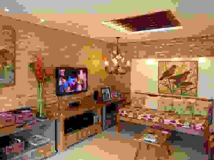 Salas de estilo rural de Eveline Sampaio Arquiteta e Designer de Interiores Rural