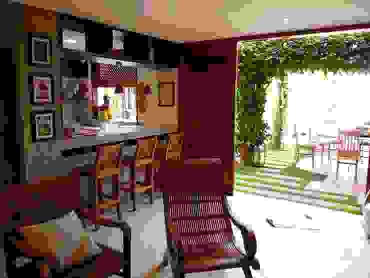 Sala de Estar Varandas, alpendres e terraços campestres por Eveline Sampaio Arquiteta e Designer de Interiores Campestre