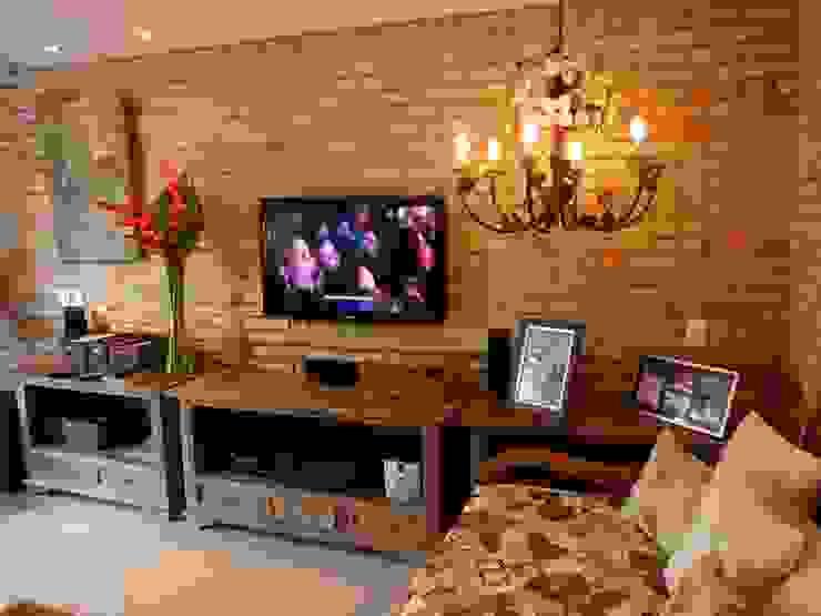 Wohnzimmer im Landhausstil von Eveline Sampaio Arquiteta e Designer de Interiores Landhaus