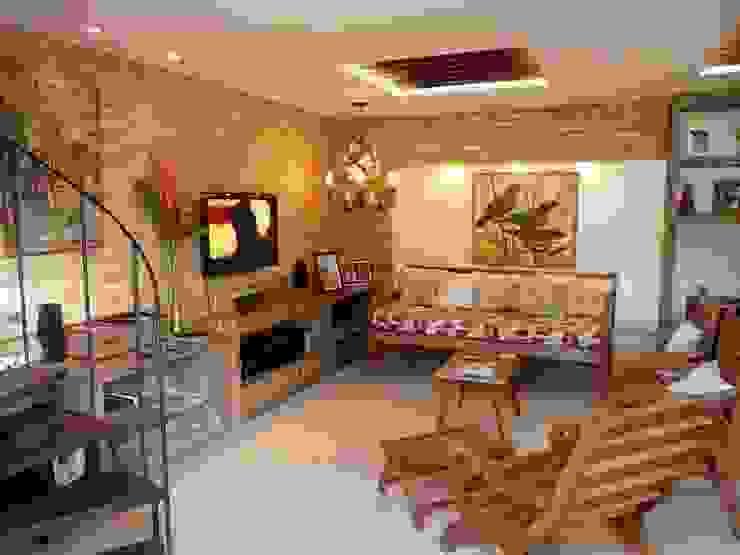 컨트리스타일 거실 by Eveline Sampaio Arquiteta e Designer de Interiores 컨트리