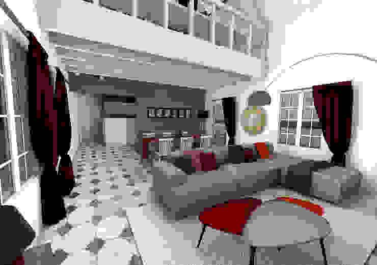 Гостиная в стиле модерн от Dem Design Модерн