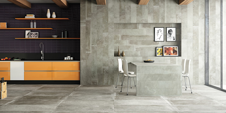 Eliane Revestimentos Industrial style kitchen