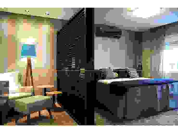 LX Arquitetura Modern style bedroom
