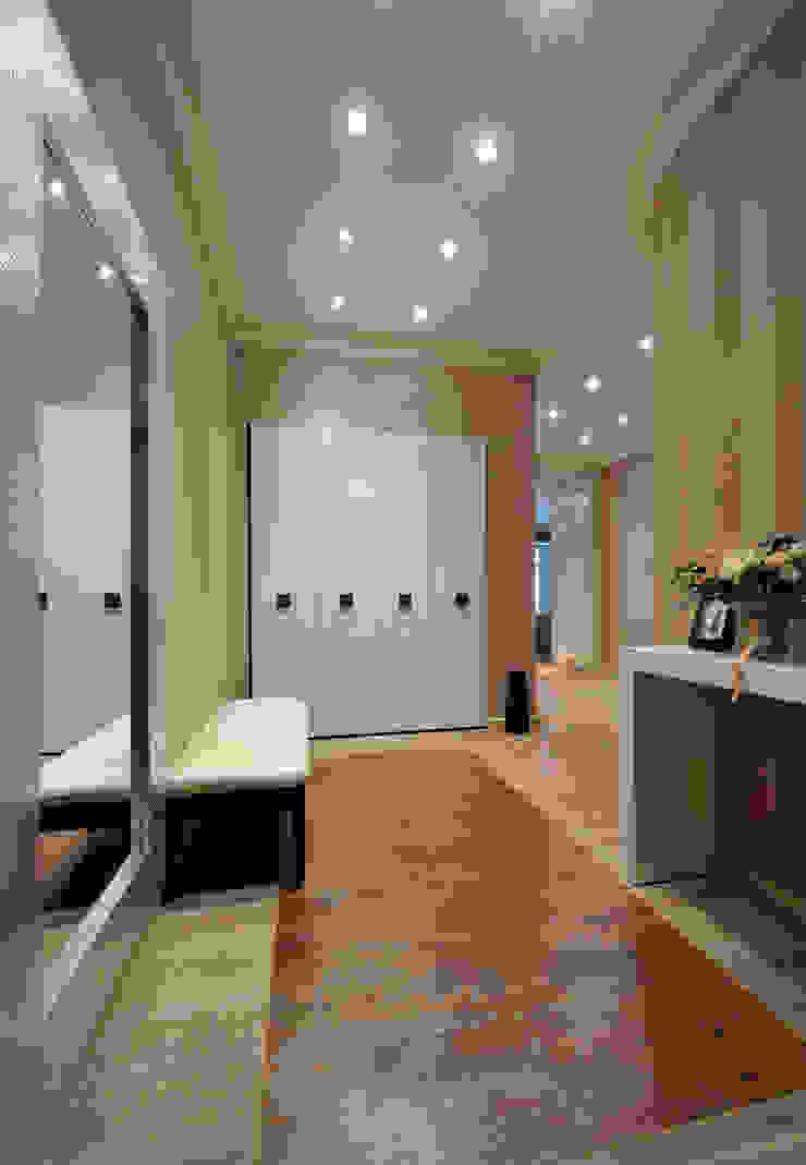 Квартира на Староволынской Коридор, прихожая и лестница в модерн стиле от Дизайн-студия «ARTof3L» Модерн