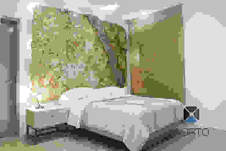 Proyecto Residencial <q>La Ramona.</q> Recámaras eclécticas de PORTO Arquitectura + Diseño de Interiores Ecléctico