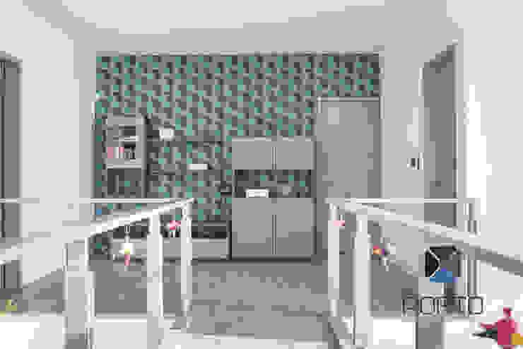 Proyecto Residencial <q>La Ramona.</q> Pasillos, vestíbulos y escaleras eclécticos de PORTO Arquitectura + Diseño de Interiores Ecléctico