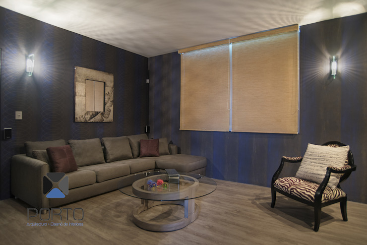 Eclectic style media room by PORTO Arquitectura + Diseño de Interiores Eclectic
