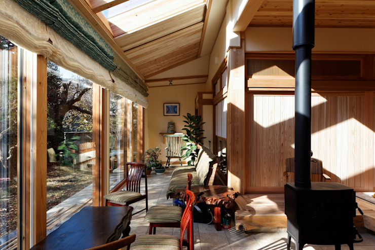 K邸 Renovation オリジナルデザインの テラス の 株式会社山崎屋木工製作所 Curationer事業部 オリジナル 木 木目調