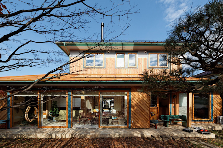 K邸 Renovation オリジナルな 家 の 株式会社山崎屋木工製作所 Curationer事業部 オリジナル 木 木目調