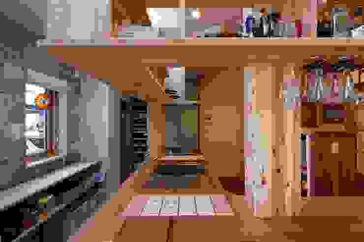 K邸 Renovation オリジナルデザインの キッチン の 株式会社山崎屋木工製作所 Curationer事業部 オリジナル 木 木目調