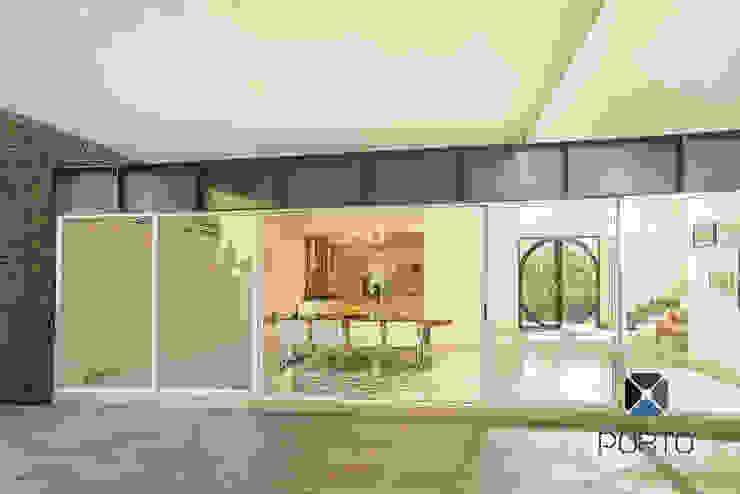 Proyecto Residencial <q>La Ramona.</q> Comedores eclécticos de PORTO Arquitectura + Diseño de Interiores Ecléctico