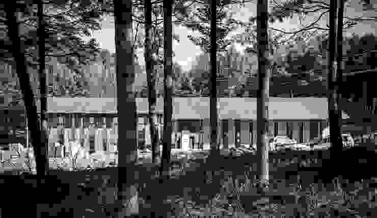 청태산국립자연휴양림 방문자안내센터 모던스타일 주택 by (주)나무아키텍츠 건축사사무소 모던