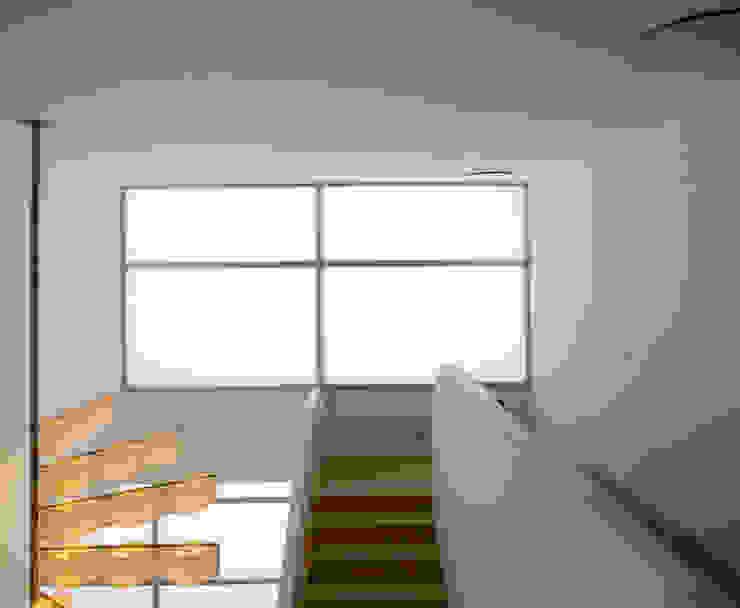 Sede de la empresa Tuc Tuc. Escalera Ignacio Quemada Arquitectos Pasillos, vestíbulos y escaleras de estilo minimalista Blanco