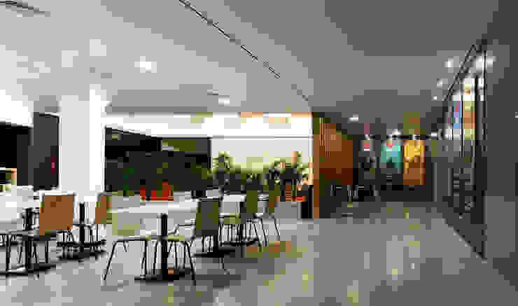 Foyer + Cafetaria Ginásios modernos por Estúdio AMATAM Moderno