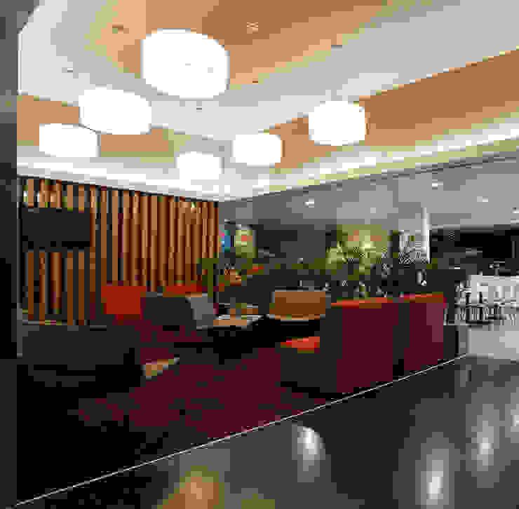 Foyer Ginásios modernos por Estúdio AMATAM Moderno