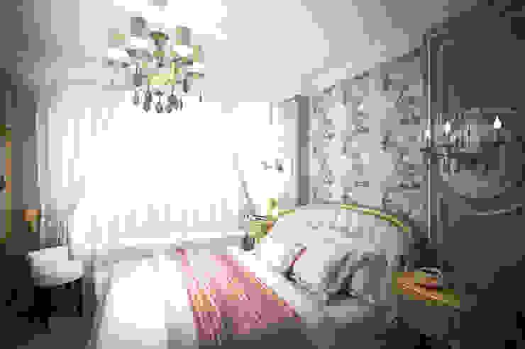 Яркая классика в ЖК <q>Триколор</q> Спальня в классическом стиле от Анастасия Муравьева Классический