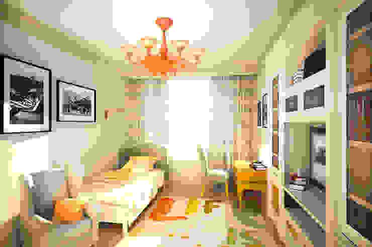 Яркая классика в ЖК <q>Триколор</q> Детская комнатa в классическом стиле от Анастасия Муравьева Классический