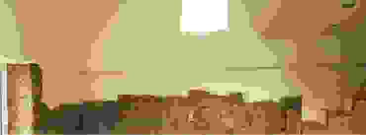 Bárbara abreu Arquitetos Pasillos, vestíbulos y escaleras de estilo moderno Piedra Blanco