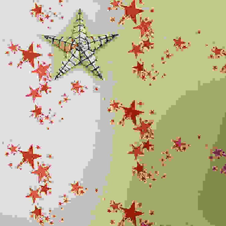 Barneby Gates wallpaper - All Star Dust Paredes y suelosPapeles pintados Rojo