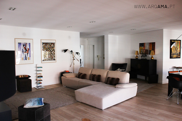 Salas de estilo escandinavo de ARQAMA - Arquitetura e Design Lda Escandinavo