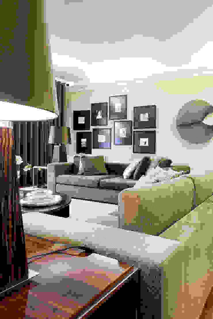 Residência Foz Salas de estar modernas por Jorge Cassio Dantas Lda Moderno