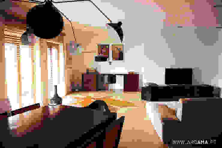 SCANDINAVIAN HOUSE PROJECT Salas de estar escandinavas por ARQAMA - Arquitetura e Design Lda Escandinavo