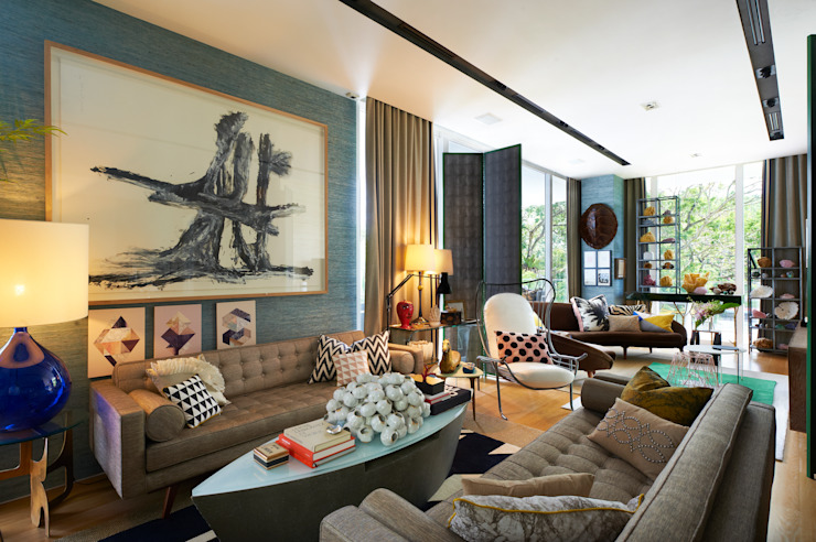 Living room by Viterbo Interior design, Eclectic