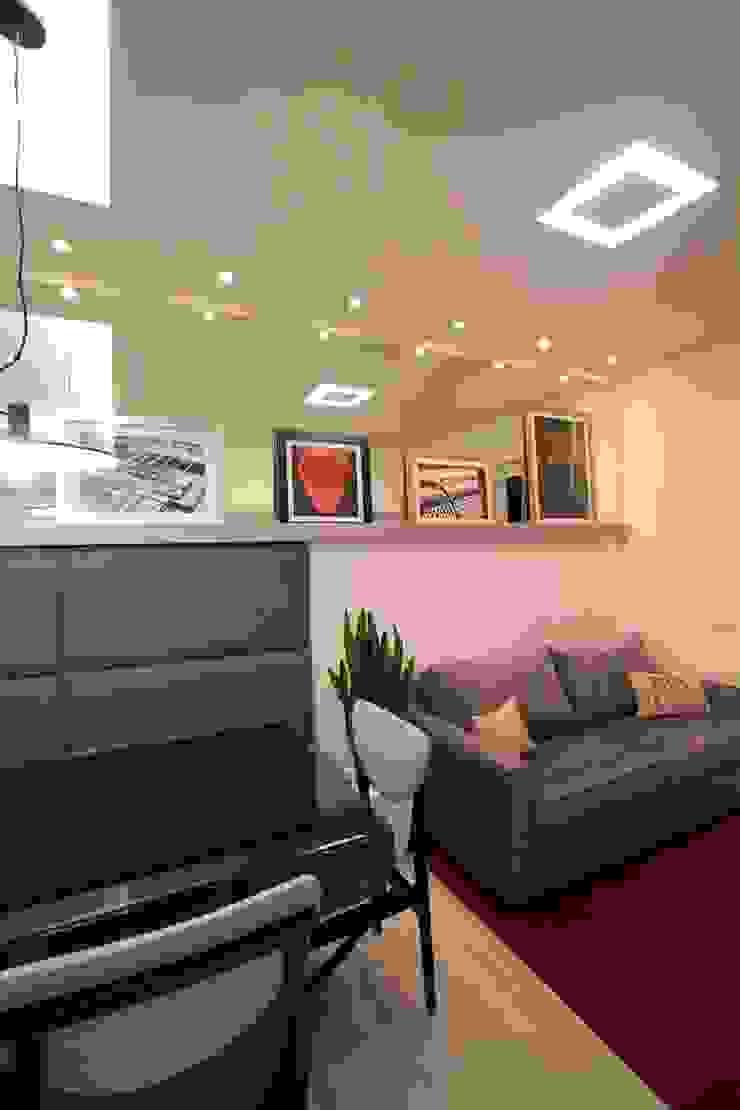 Sala de estar Salas de jantar modernas por Pricila Dalzochio Arquitetura e Interiores Moderno