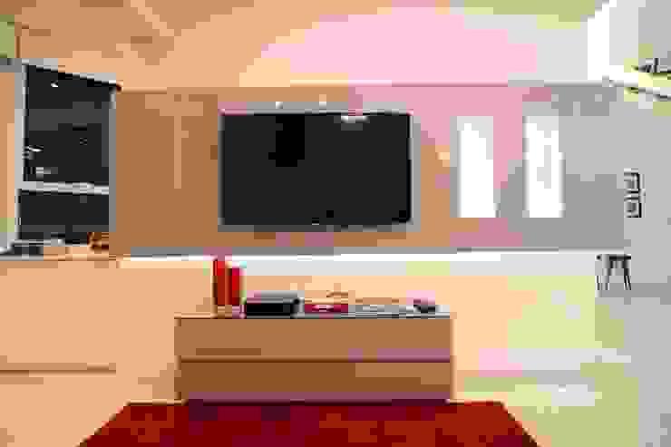 Sala de estar Salas de estar minimalistas por Pricila Dalzochio Arquitetura e Interiores Minimalista