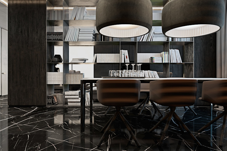 Apartment in Kiev. Ukraine Кухня в стиле минимализм от Diff.Studio Минимализм