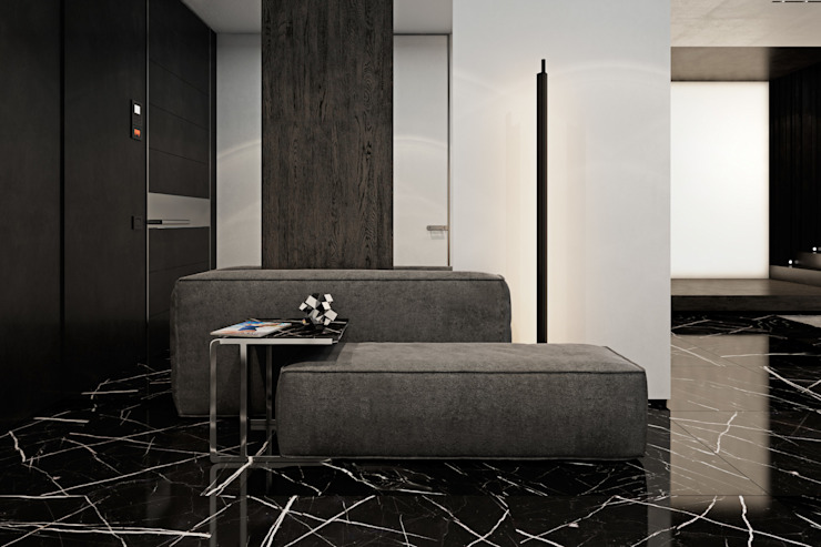 Apartment in Kiev. Ukraine Коридор, прихожая и лестница в стиле минимализм от Diff.Studio Минимализм