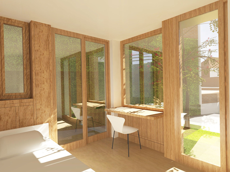 Barnet Bungalow Modern style bedroom by Satish Jassal Architects Modern