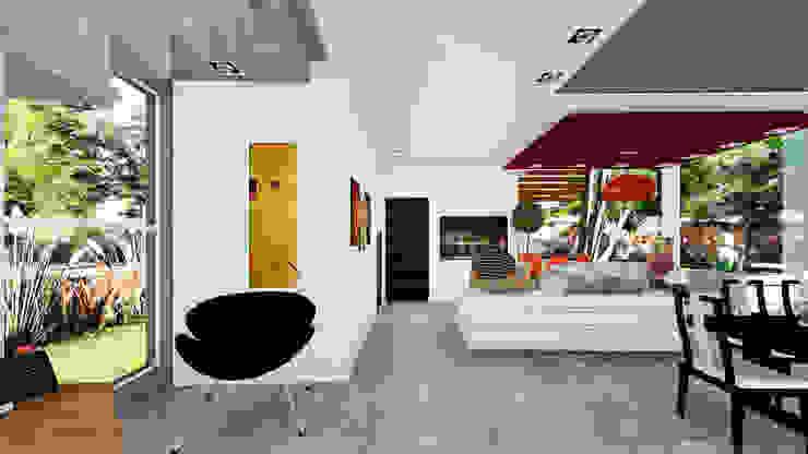 Casa E&M Pasillos, vestíbulos y escaleras modernos de Módulo 3 Arquitectura Moderno