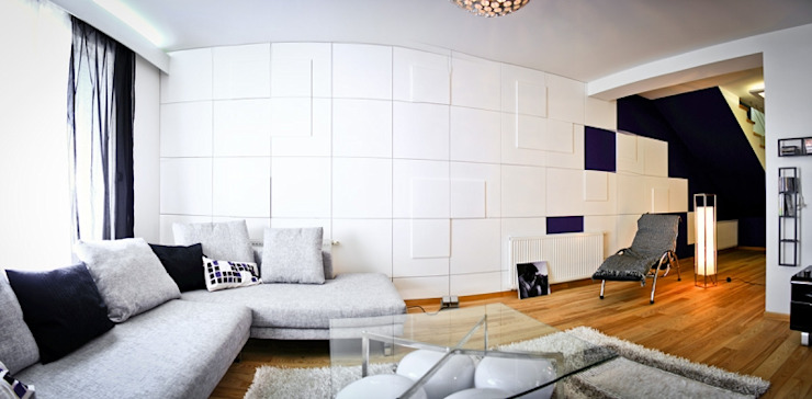 Panele gipsowe 3D Loft Design System, Dekory 1-10 Nowoczesne ściany i podłogi od DecoMania.pl Nowoczesny