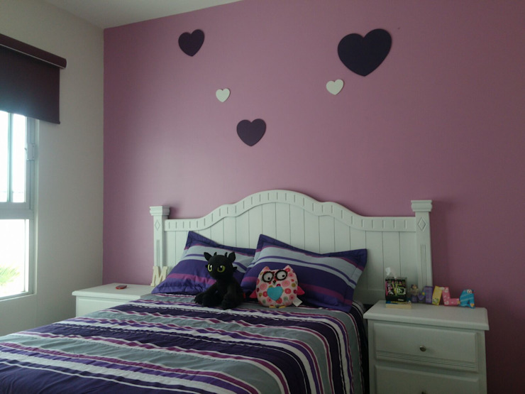 Constructora e Inmobiliaria Catarsis Nursery/kid's room Wood Purple/Violet
