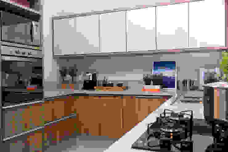 Amanda Carvalho - arquitetura e interiores Dapur Modern MDF