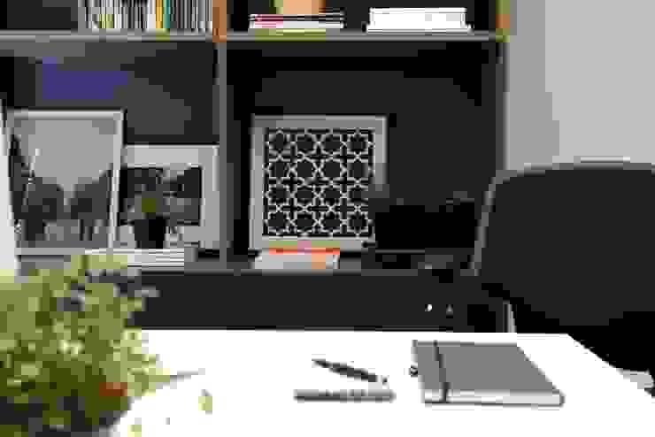 Amanda Carvalho - arquitetura e interiores Oficinas y bibliotecas de estilo moderno