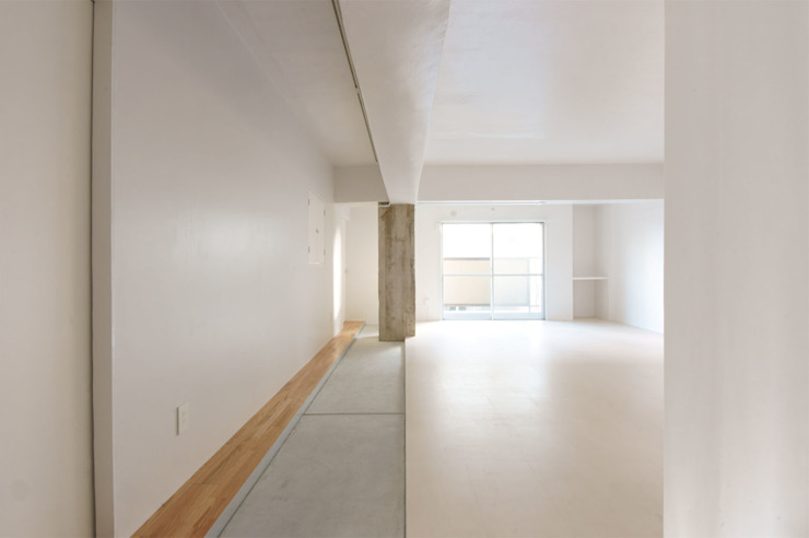 doma・naka モダンスタイルの 玄関&廊下&階段 の エム.エス.アーキテクツ モダン