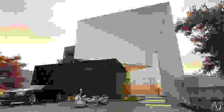 Minimalistische Häuser von 21arquitectos Minimalistisch