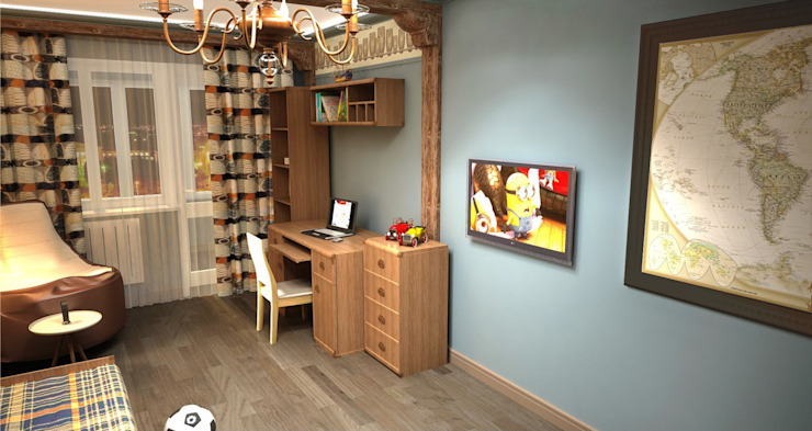 Kinder, Küche, Bücher. Детская комнатa в классическом стиле от Студия дизайна Ирины Комиссаровой Классический