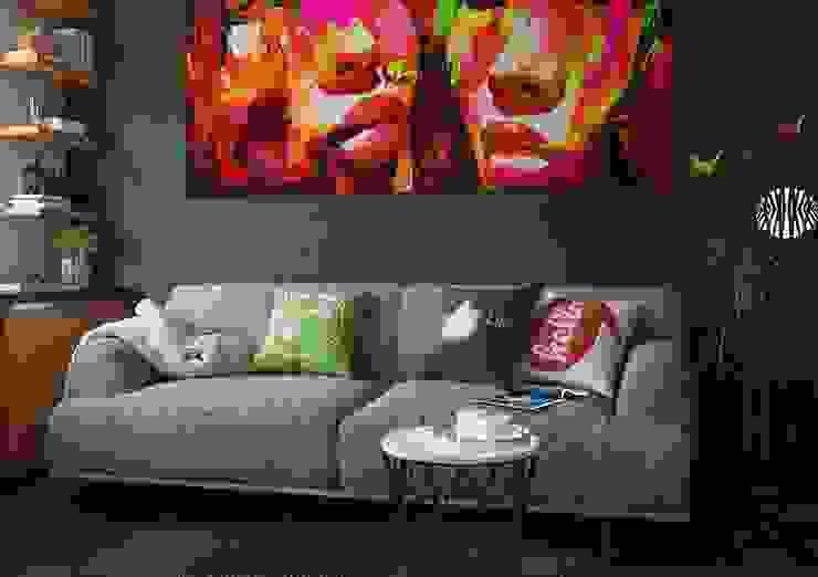 Дизайн интерьера 2-ком. квартиры в Днепропетровске Гостиная в стиле лофт от GP-ARCH Лофт