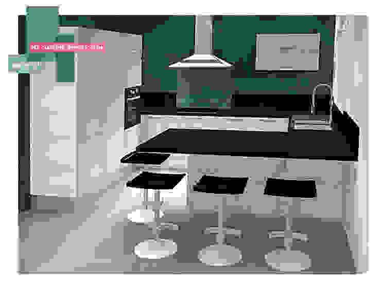 projet 3D cuisine   Paris Cuisine moderne par homify Moderne