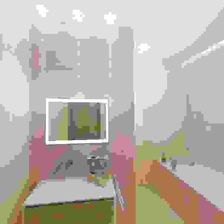 Камерная тональность. Ванная комната в эклектичном стиле от Студия дизайна Ирины Комиссаровой Эклектичный