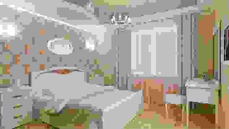 Классика на 50 метрах. Спальня в классическом стиле от Студия дизайна Ирины Комиссаровой Классический