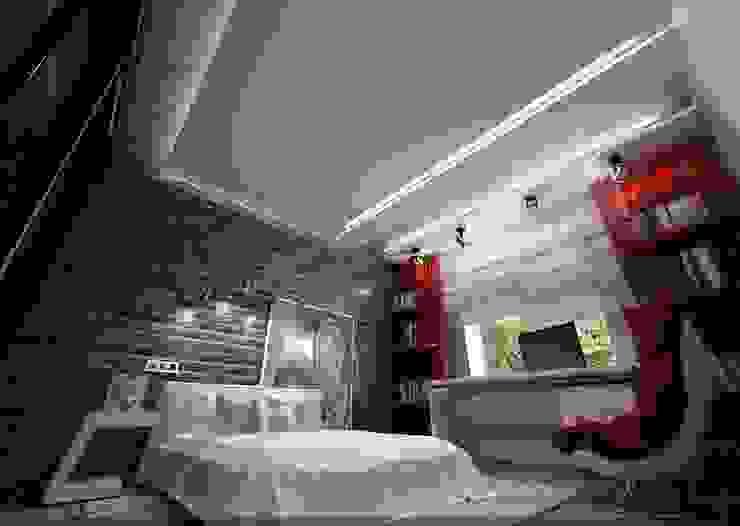 Комната для молодого парня Спальня в стиле лофт от Студия дизайна Натали Хованской Лофт
