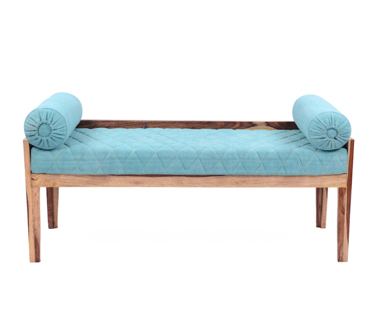 Natural Fibres Wooden Bench: modern  by Natural Fibres Export,Modern Cotton Red