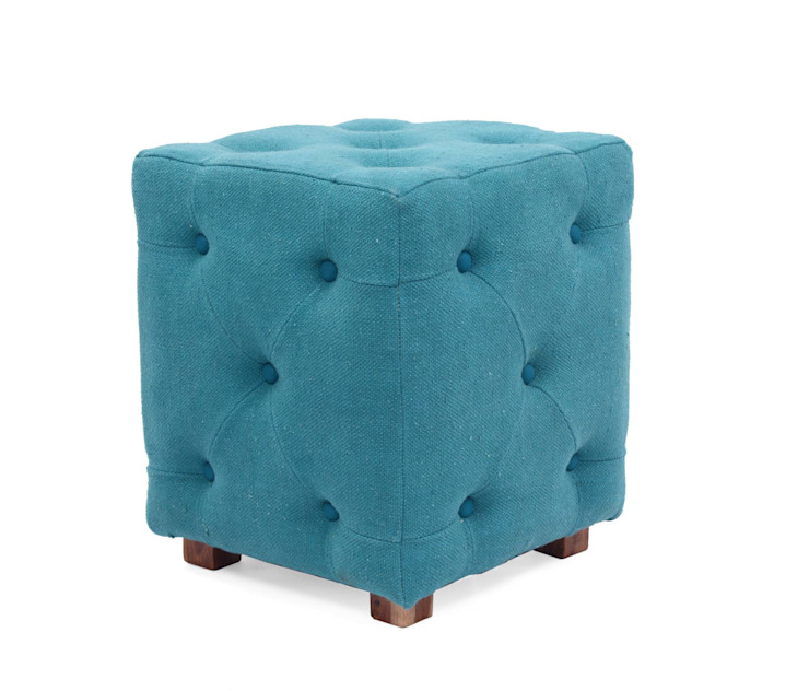 Natural Fibres Tufted Ottomans: classic  by Natural Fibres Export,Classic Cotton Red