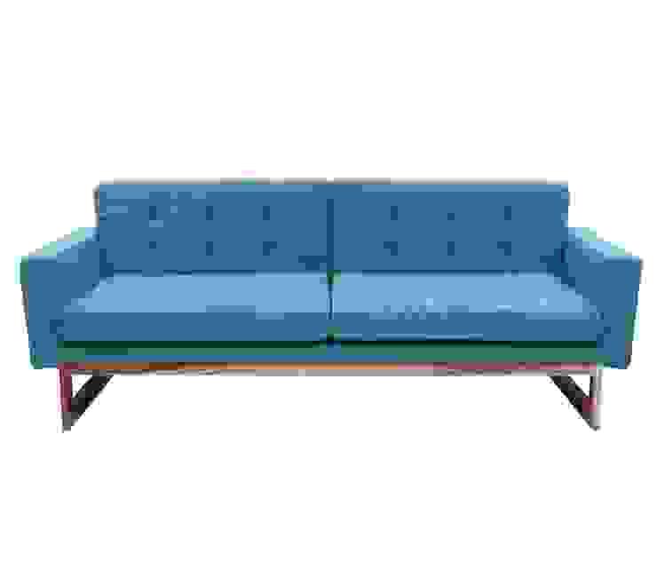 Natural Fibres Cotton Rug Upholstered Wooden Sofa: classic  by Natural Fibres Export,Classic Cotton Red