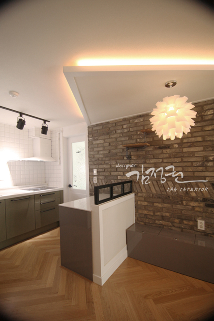 김정권디자이너 Modern Dining Room MDF Grey